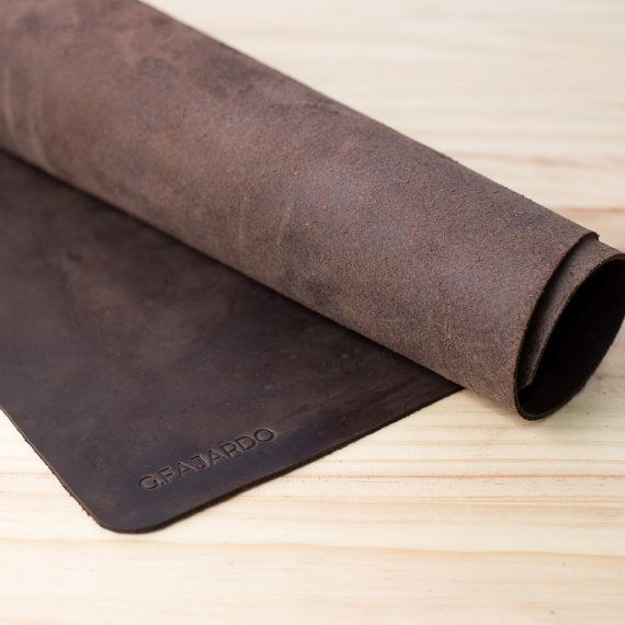 Leather Desk Mat Leather Pad Mouse Pad Gifts for by CapraLeather                                                                                                                                                                                 More