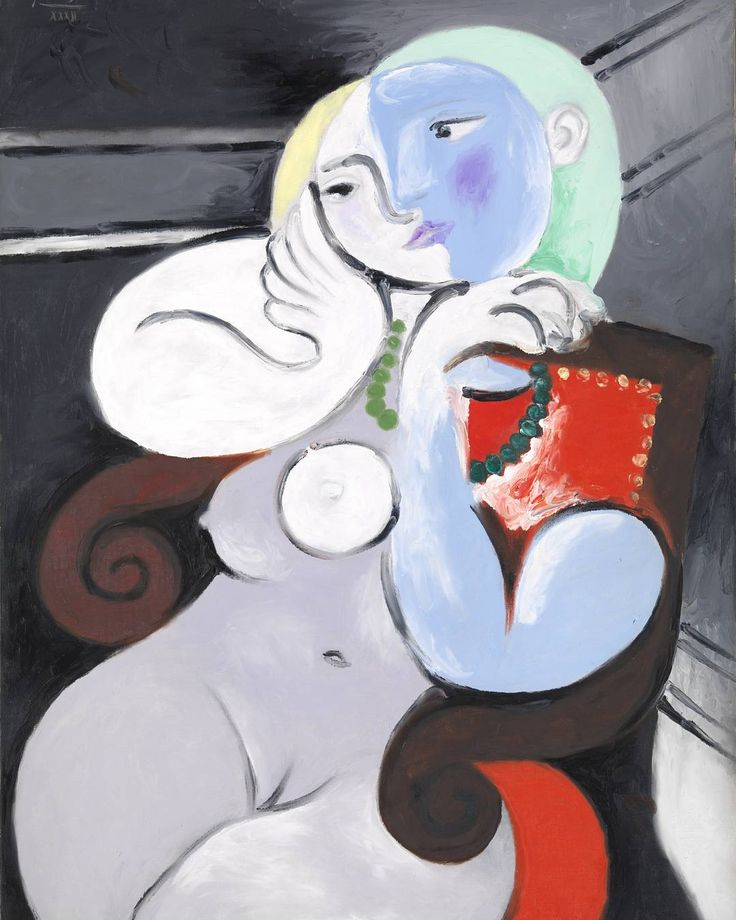 This is one of a number of Picasso's paintings of Marie-Thérèse Walter whom he had a secret relationship with for years. The works in this series mark a particular high-point in the artist's famed career. You can see this painting in #NudeAGNSW.  Image: Pablo Picasso 'Nude woman in a red armchair' 1932. Tate: purchased 1953 © Succession Pablo Picasso. Licensed by Viscopy, Sydney. Image © Tate, London 2016.