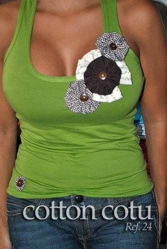 Camisetas Blusas Apliques Flores De Tela Para Revendedores Distrito