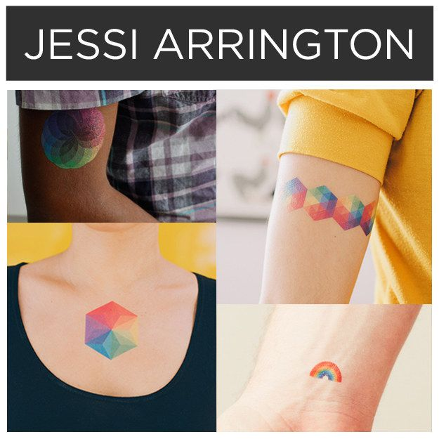 Technicolor tats by Jessi Arrington