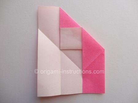 Origami Magie Rose Cube Etape 7