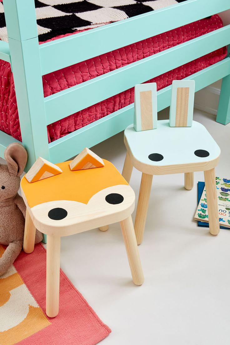 Paint @ikea Flisat stools into cute animals. #ikeahack