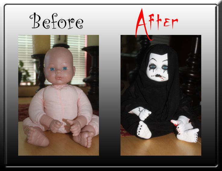 make your own zombie babies.  Good use for thrift store or throw away dolls.  Never would of though of it.