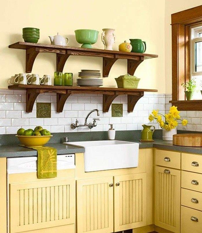 1000 id es sur le th me peinture la cuisine jaune sur pinterest couleurs - Cuisine jaune et blanche ...