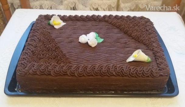 Torta s kakaovým krémom (fotorecept) - Recept