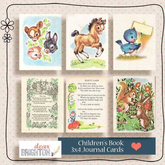 Free Vintage Project Life Filler Cards #freeprintables