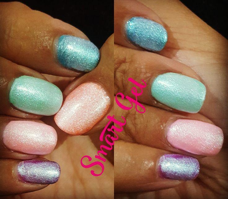 Gel Manicure with Mermaid effect.  💅 💘#nails #nail #fashion #nailart #nailpolish #polish #nailswag #beauty #beautiful #pretty #girl #girls #stylish #sparkles #styles #glitter #art #photooftheday #rosa #love #style #shiny #cute #flowers #manicure #stampingnailart #SmartGel