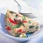 Een heerlijk recept: Groenteterrine van tomaten paprika en doperwten