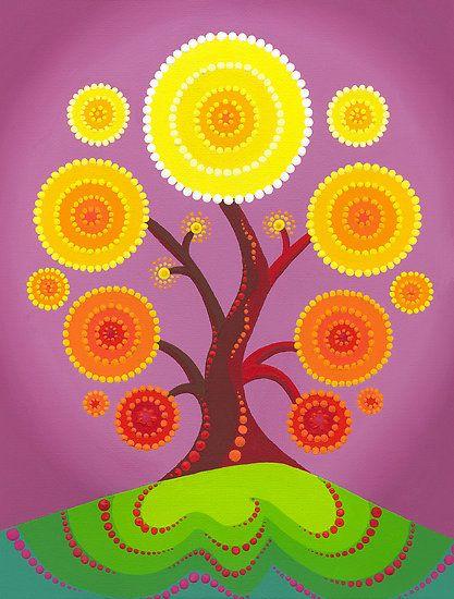 Orb tree of fruition by Elspeth McLean