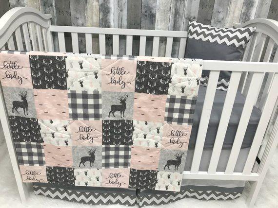 Baby Girl Nursery Set Baby Toddler Blanket Buck Little Lady