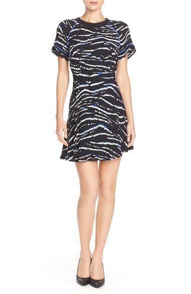French connection dress under $150 that meets the black and white, tribal inspired and silk trends