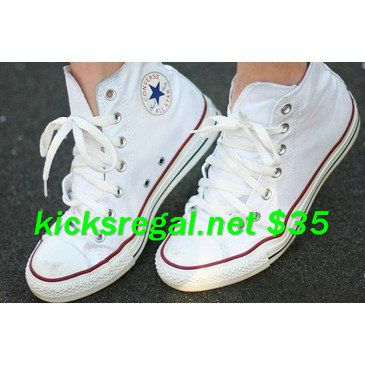 White Converse with (this is very important) the old logo on the tongue and heel. site full of 60% off White Converse $35     #cheap #converse #outfit for #Girls