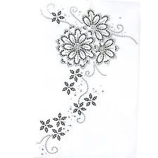Rhinestone Design Patterns | Rhinestone Iron On Transfer Hot fix Motif Fashion Design Flower Vine ...