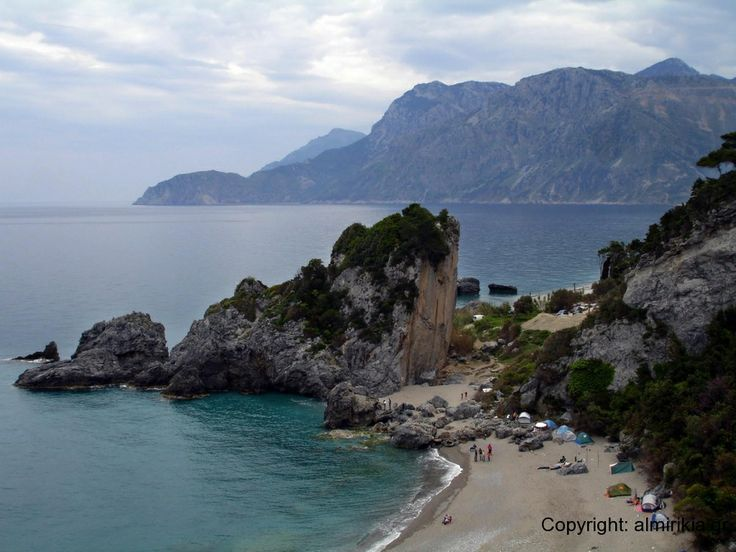 Almyropotamos beach in southern Εvia