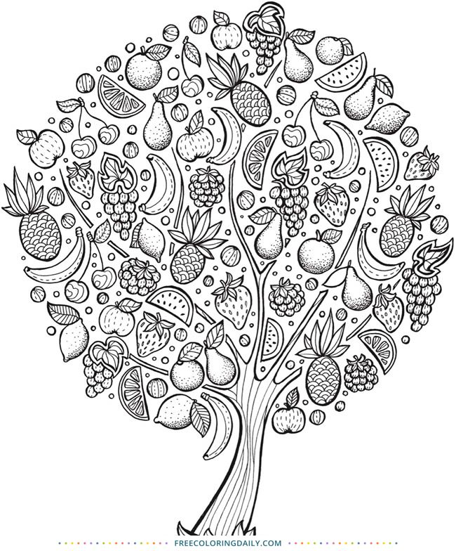 coloring pages fruit trees - photo#4