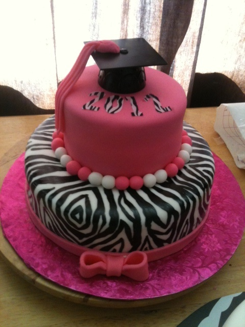 Purple Zebra Cake Design : - Zebra Graduation College Graduation Party Pinterest ...