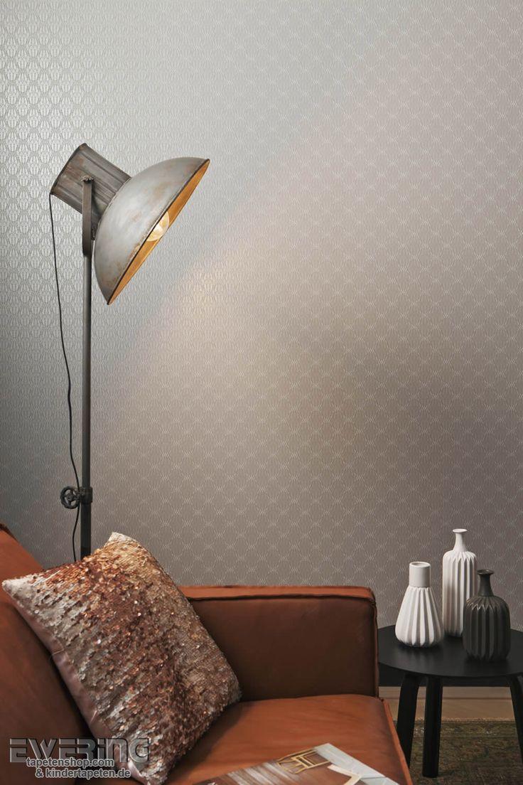 Tapete Casadeco Midnight : 12-bn-voca-moods-08 Die Tapete in taupe-grau wirkt elegant und bringt