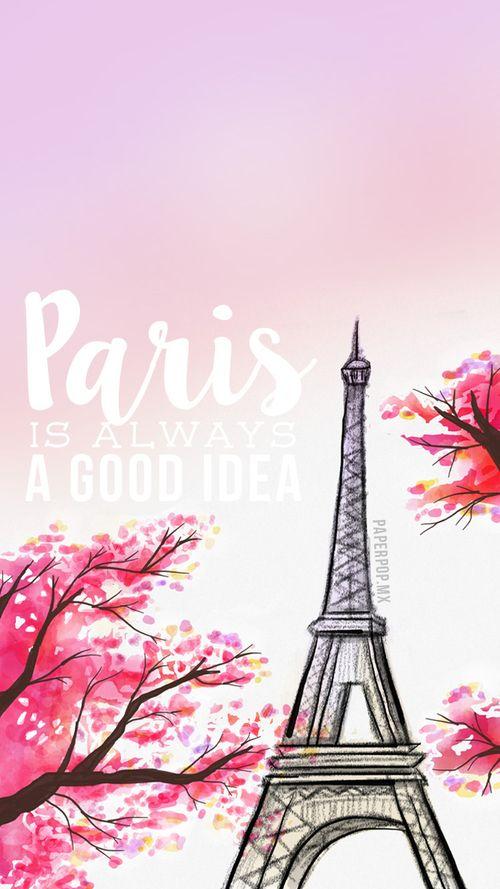 Imagen de paris, wallpaper, and pink
