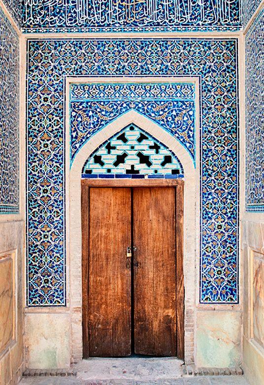 moroccan tiled doorway