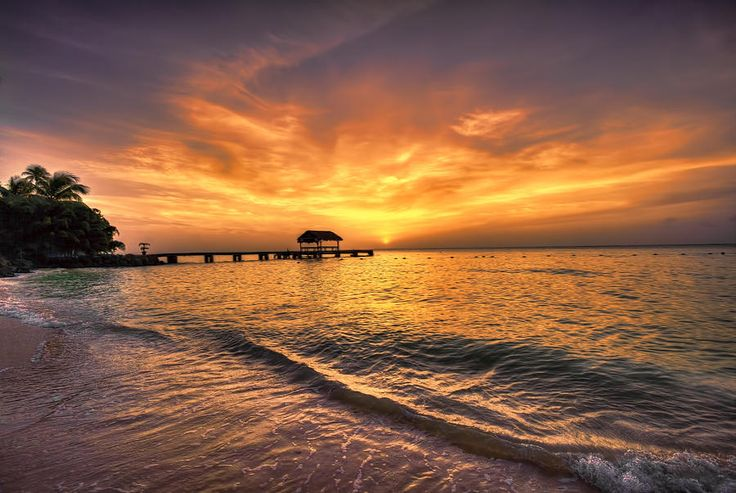 Pigeon Point Sunset inTobago, The Caribbean by Nadia Sanowar