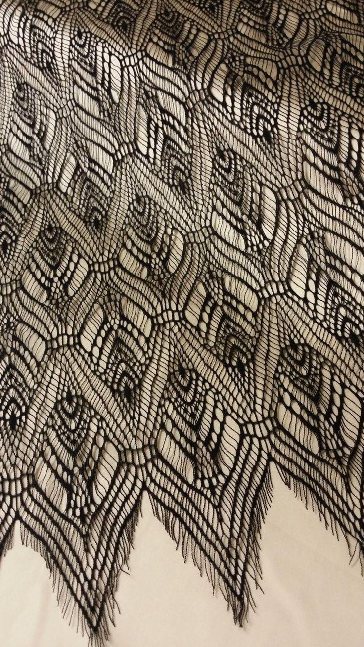 Black lace fabric by the yard France Lace Chantilly by LaceToLove
