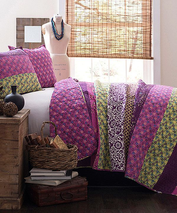 Look at this Plum Diana Quilt Set on #zulily today!