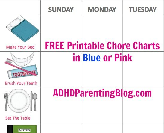 chore and homework chart for kids
