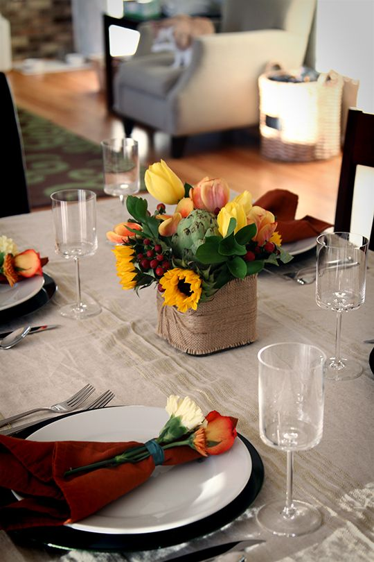 Easy Chic Thanksgiving Tablescape Thanksgiving Flowers