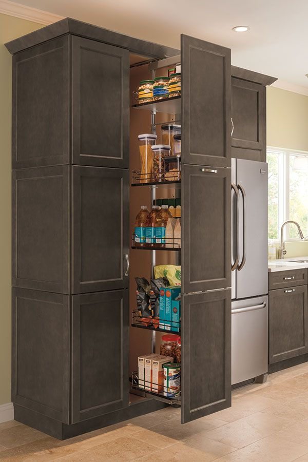Accessible From Both Sides The Tall Pantry Pullout Cabinet Makes