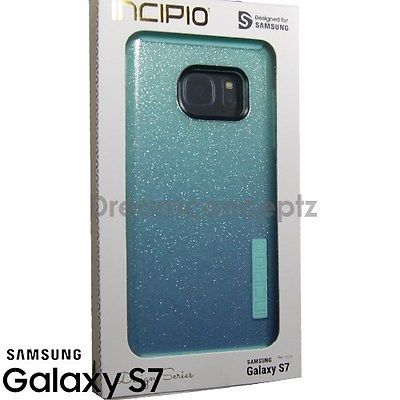 INCIPIO DualPro Glitter Design CASE for Samsung Galaxy S7 Only Sparkle Turquoise