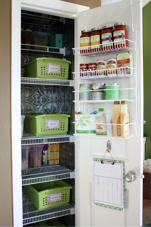 Pantry Organization??   Being able to pull out a labeled basket instead of products disappearing into the dark of the pantry shelves would be VERY helpful!
