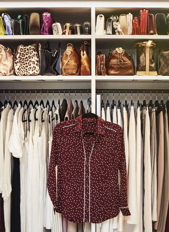 Closet organization tip: reallocate hanging space in your closet and move winter clothing to the front