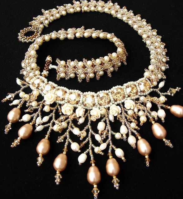 Blancefleur Pearl Necklace by Cielo Design, via Flickr