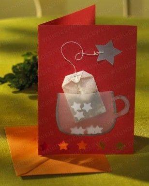 Einladungskarte zum Adventstee: