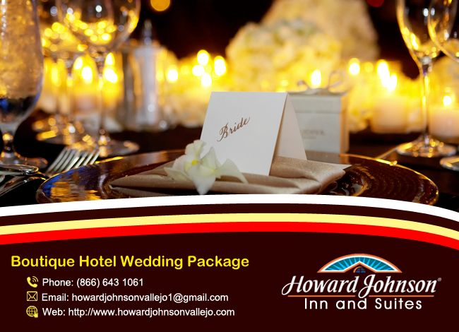 Howardjohnsonvallejo is the perfect Boutique Hotel Wedding Package for your big moment. http://goo.gl/Djw8GT