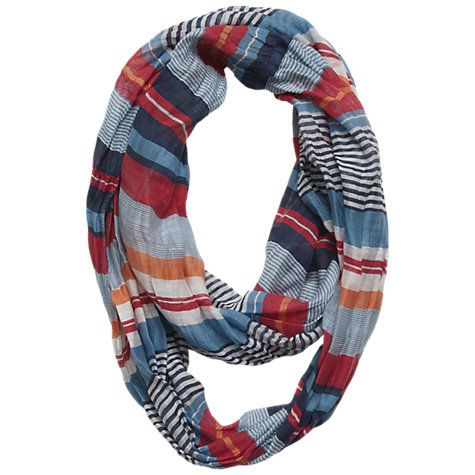 Stripe cotton amp silk mix striped snood multi online at johnlewis com