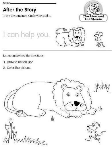 1000 images about the lion and the mouse on pinterest online coloring pages reading street. Black Bedroom Furniture Sets. Home Design Ideas