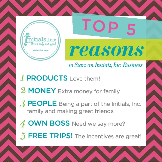 Our Creative Partners' top 5 reasons for joining #initialsinc and launching their own business.