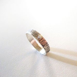 """Silver ring by """"Τhe red button"""""""