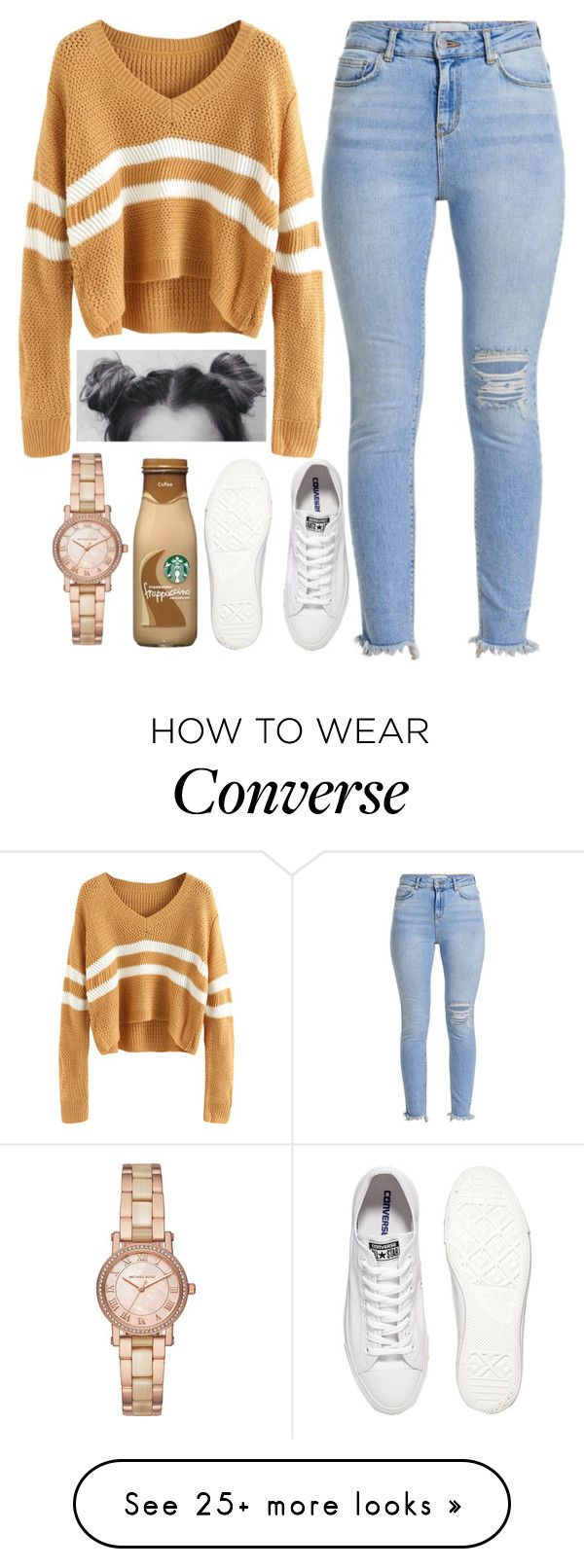 """Spaced out"" on Polyvore featuring Converse and Michael Kors"