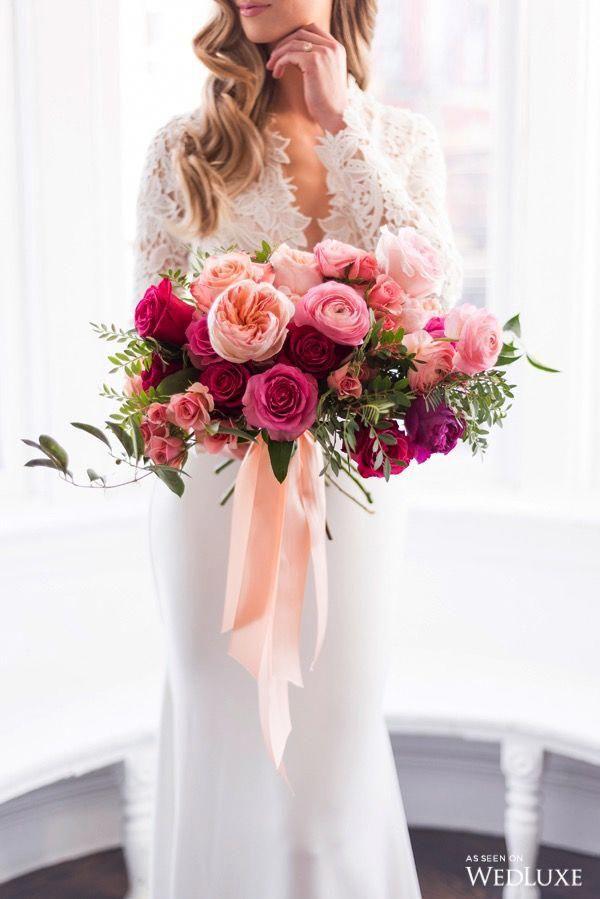Wedluxe Magazine Pink Wedding Flowers Fuschia Wedding Wedding