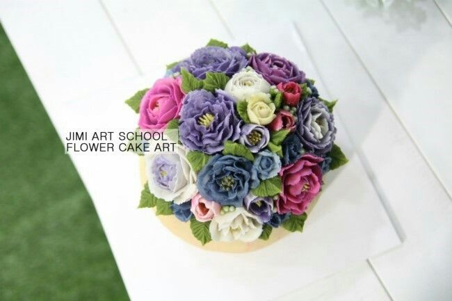 #rice cake#pink#cake#앙금플라워#flower cake#flower#rose#decoration#love#korea cake#korea food#지미아트스쿨#앙금플라워떡케이크#떡공예#수강생작품#화병케이크#꽃병케이크
