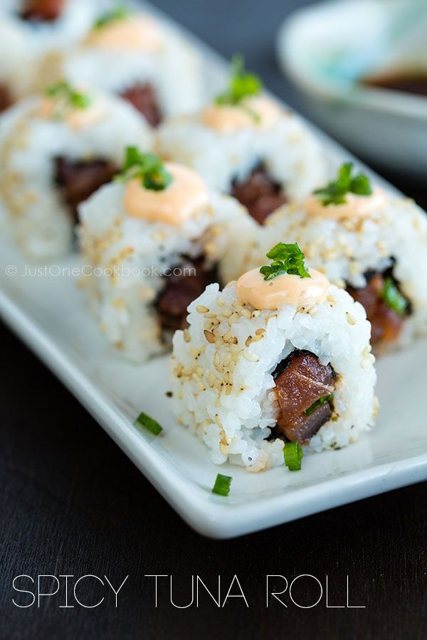 Spicy Tuna Roll   Sushi Recipe   Just One Cookbook  FOOD PORN Appetizer Side Dish  Snack Entrée I   RECIPES  HEALTHY RECIPES  HEALTHY FOOD  HEALTHY COOKING  COOKING   Paleo Diet Paleo Recipes #recipes #healthy #cooking