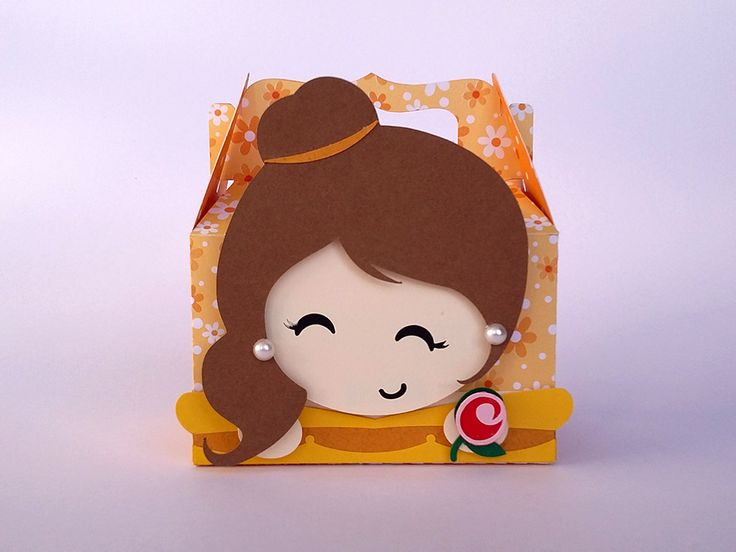 Caixinha Bela para lembrancinha de festa no tema A Bela e A Fera. A decoração ficará ainda mais encantadora.