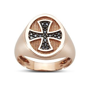 Chevalier Ring pink gold 14ct.