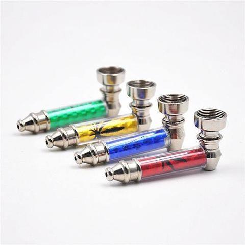 Pocket Sized Mini Metal Travel Smoking Piece- Yellow-Mini Pipe-Stash Lab Technologies