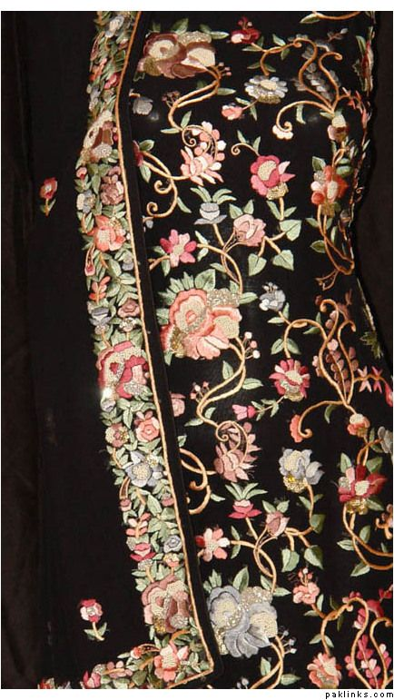 Parsi embroidery ~ usually seen on gara saris ~ The gara sari is defined by its fine embroidery and elegance. The concept has come to be known as Parsi embroidery
