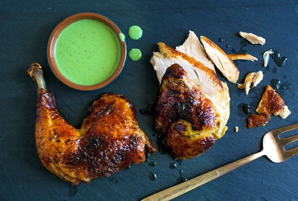 Green Goddess Roasted Chicken