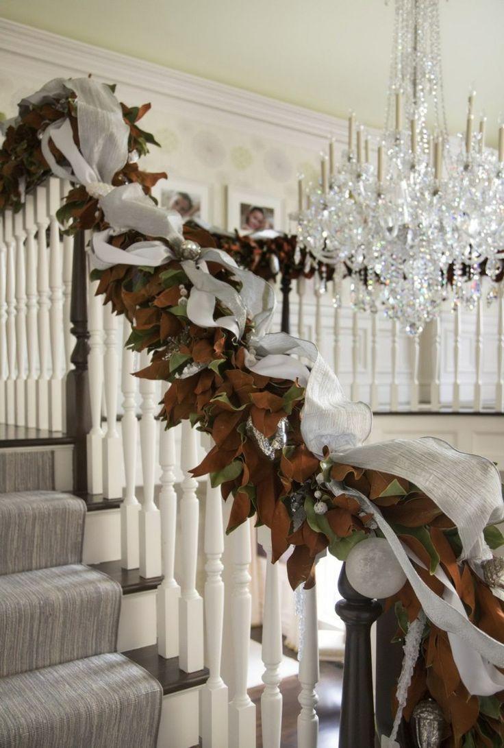 Ideas para decorar escaleras,75 propuestas para Navidad