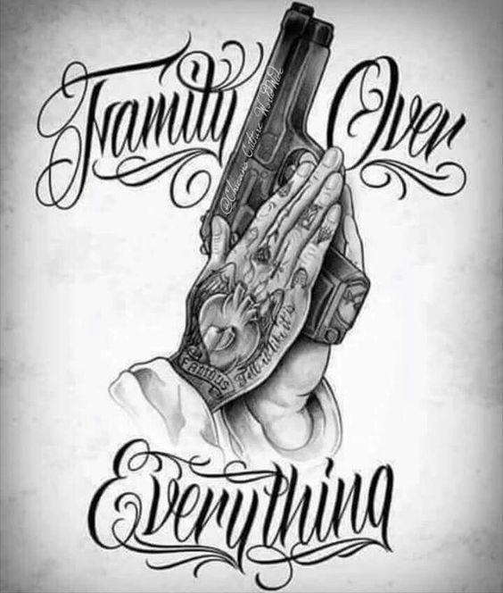 F O E Family Over Everything Gangsta Tattoos Gangster Tattoos Money Tattoo